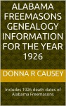New book on Alabama Freemasons Genealogy Information for the year 1926