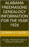 New book on Alabama Freemasons Genealogy Information for the year 1926
