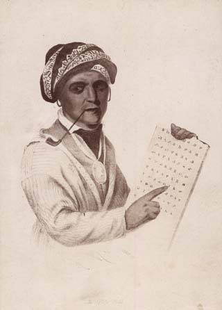 SEQUOYAH, CHEROKEE inventor of the Cherokee syllabary