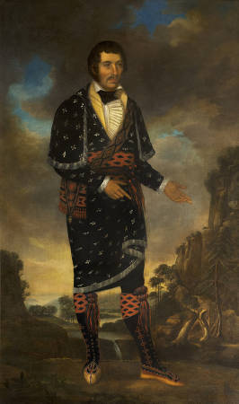 William McIntosh, chief of the Lower Creek Indians in Georgia on display at the Archives in Montgomery, Alabama