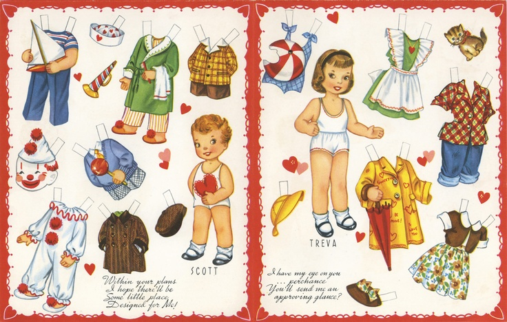 Do you remember paper dolls? I wonder if children still play with them?