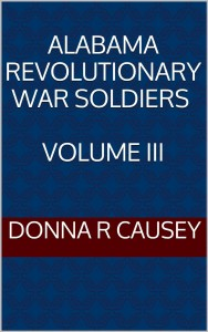 ALABAMA REV. WAR VOL III