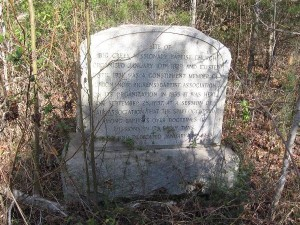 Big Creek Church stone