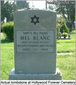 Mel Blanc tombstone