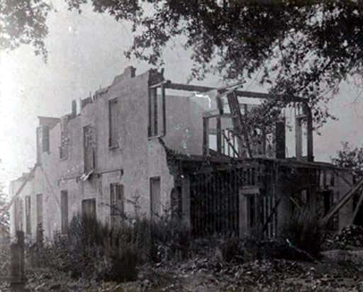 Remains of Perrine house in Cahawba, Alabama ca. 1900 Back of house