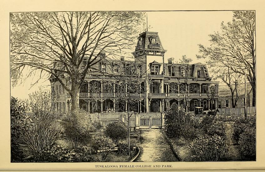 Tuscaloosa female college 1887