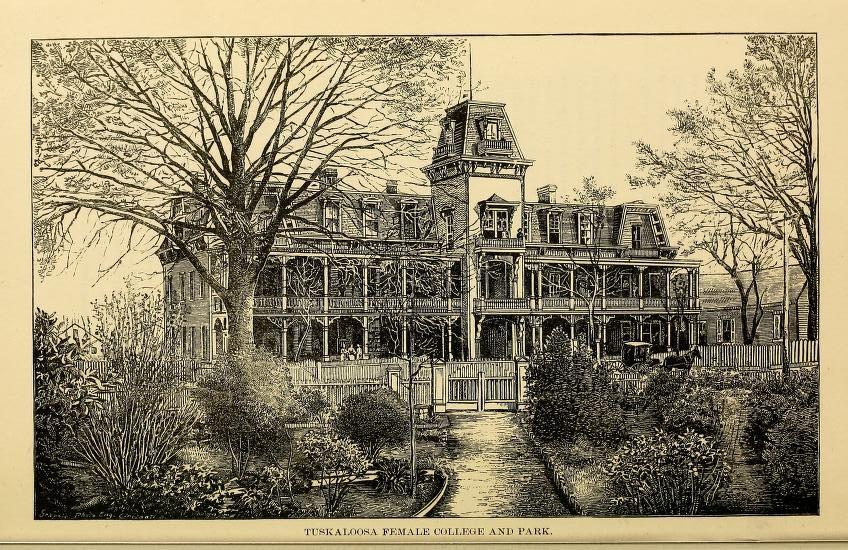 Tuscaloosa female college 1887