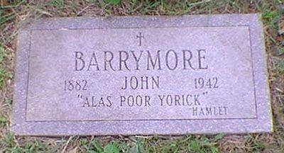 john barrymore tombstone