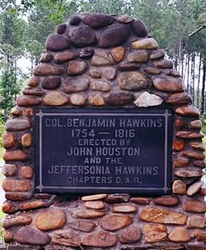 Benjamin Hawkins gravestone
