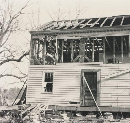 Front of Hopkins Pratt house during demolition in 1994.