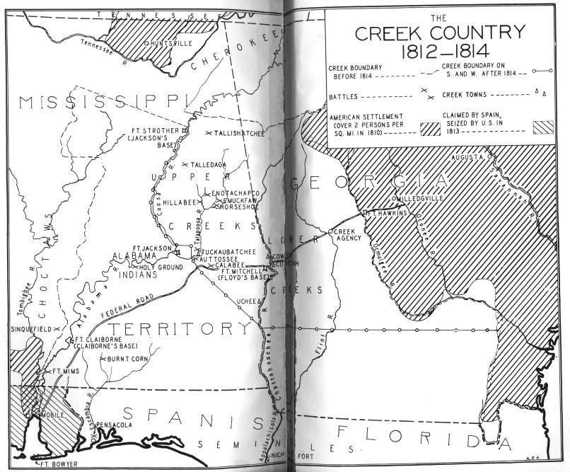Map of Creek country
