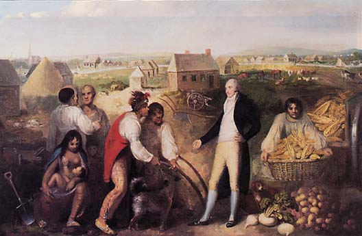 Painting of Benjamin Hawkins on his plantation