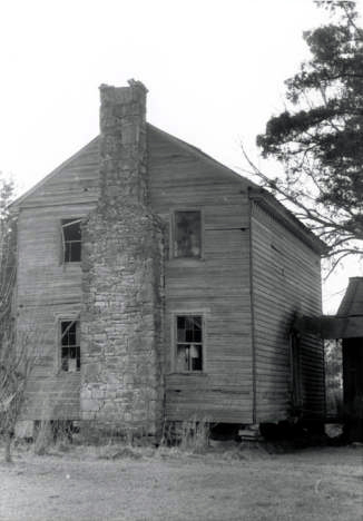 South Side Elevation of Hopkins Pratt house in Centreville, Alabama