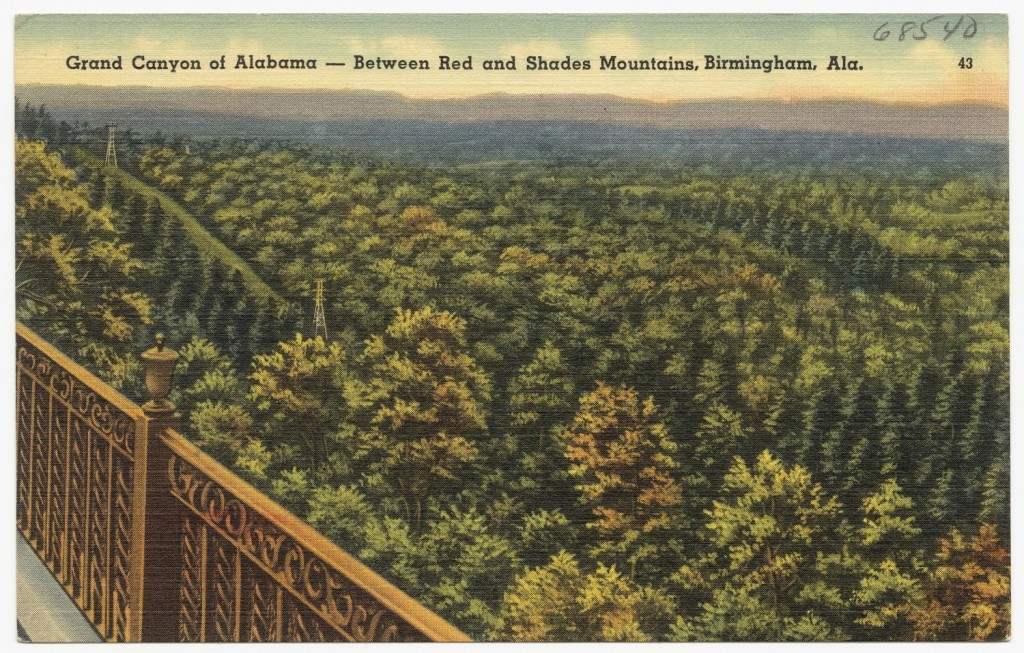 Shades Mountain (Alabama's Grand Canyon) Postcard ca. 1950