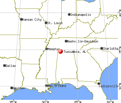 Tuscumbia alabama map