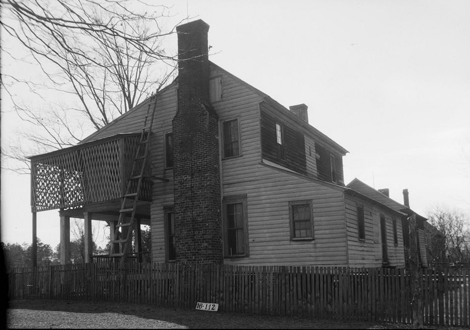 W. N. Manning, Photographer, March 6, 1934. REAR ELEVATION - Watkins House, State Highway 30, Burnt Corn, Conecuh County, AL