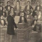 Mural of William Wyatt Bibb speaking at 1st Constitutional Convention