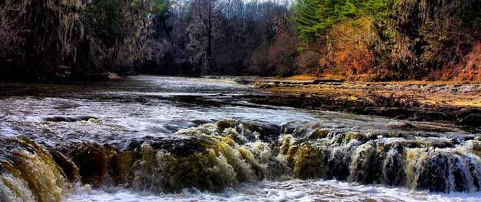 Catoma Creek Falls near old Montgomery, Alabama