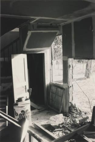 Corner stair inside of Hopkins Pratt house