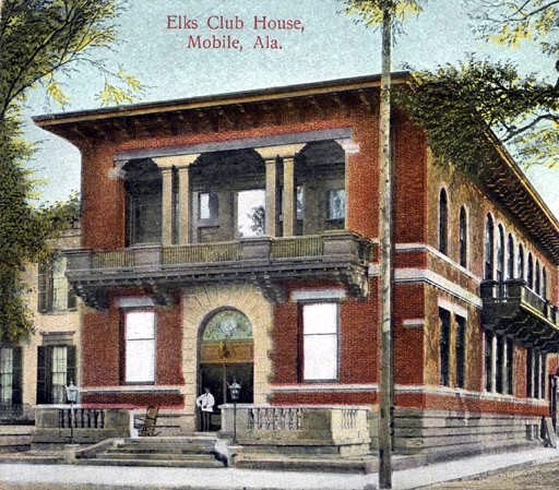 Elks Club house in Mobile ca. 1900