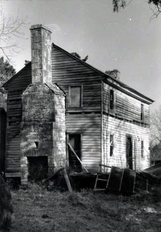 Front western and Northern elevation of Hopkins Pratt house in Centreville, Alabama