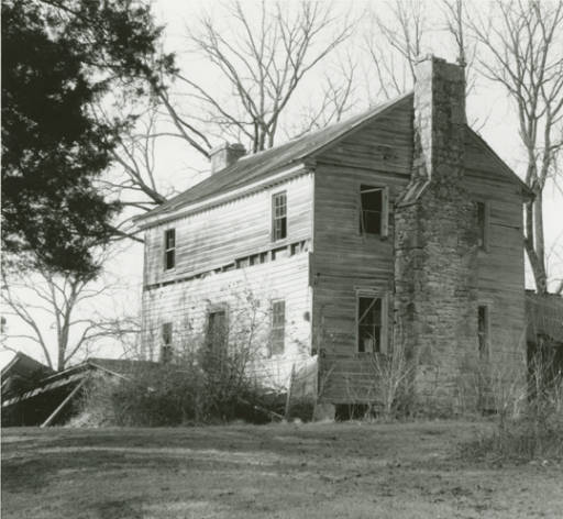 Front western and southern elevation of Hopkins Pratt house in Centreville, Alabama