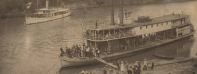 Remarkable story of Old St. Stephens by Mary Welsh born 1823 with picture of the steamboat she rode