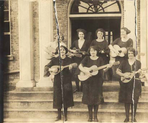 String quartet at Downing Industrial School for girls ca. 1910