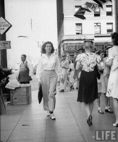 1940 women's trouser look