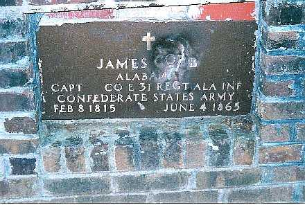 James Cobb murdered by confederate deserters Jun 4, 1865