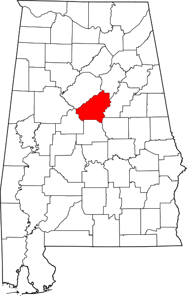 Shelby county Al map