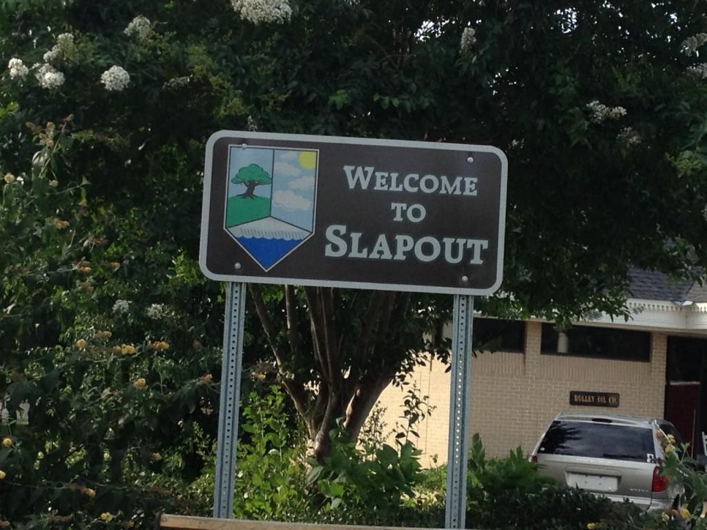 Slap out