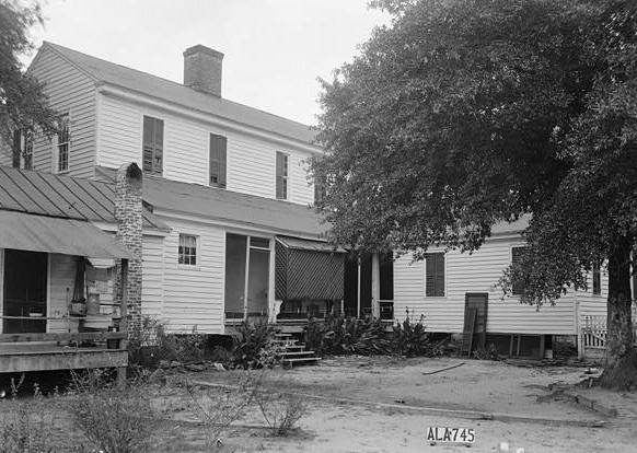 July 28, 1936 REAR ELEVATION - SOUTH - Sturdivant-Moore-Hartley House, Centenary & Main Streets, Summerfield, Dallas County, AL