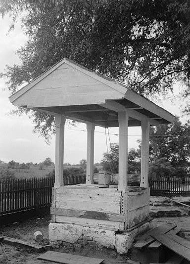 July 28, 1936 LOOKING WEST AT OLD WELL - Sturdivant-Moore-Hartley House, Centenary & Main Streets, Summerfield, Dallas County, AL