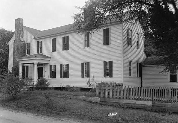 July 28, 1936 WEST ELEVATION - Sturdivant-Moore-Hartley House, Centenary & Main Streets, Summerfield, Dallas County, AL