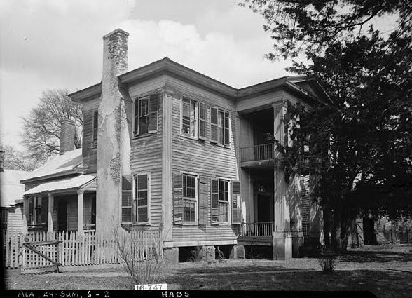 March 17, 1934. FRONT VIEW. - Moore House, Persimmon Street, Summerfield, Dallas County, AL