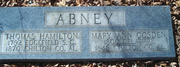 abney, thomas hamilton and mary ann gosden