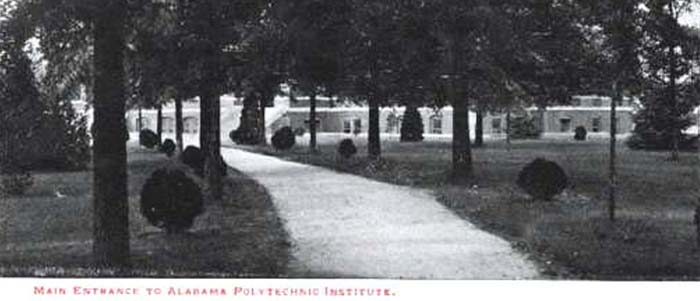 main entrance to AlabamaPolytechnic institute