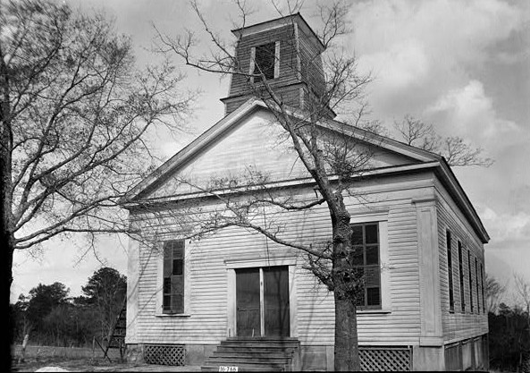 FRONT ELEVATION. - Methodist Episcopal Church, College Street, Summerfield, Dallas County, AL March 23, 1934
