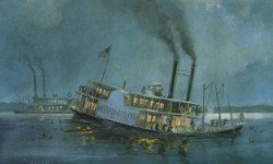 What really caused the sinking of the Monmouth and killing of over 300 Indians?