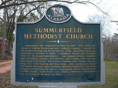 Summerfield Historic marker