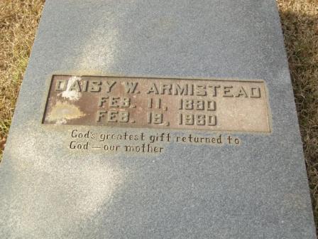 Daisy Armistead tombstone