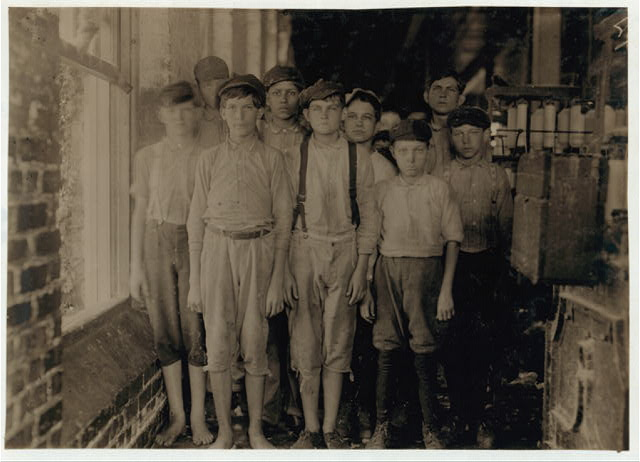 Typical workers in Barker Cotton Mills where good conditions prevail. ca. 1930