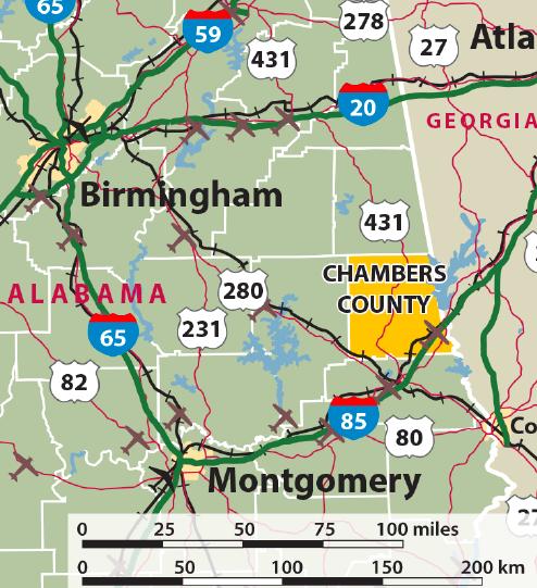 Chambers-County map
