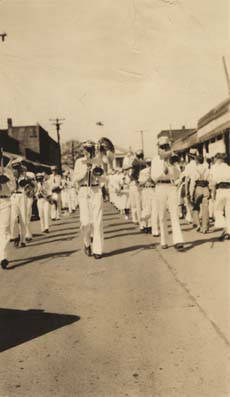 Cowikee Mill Band on parade in downtown Eufaula, Alabama.