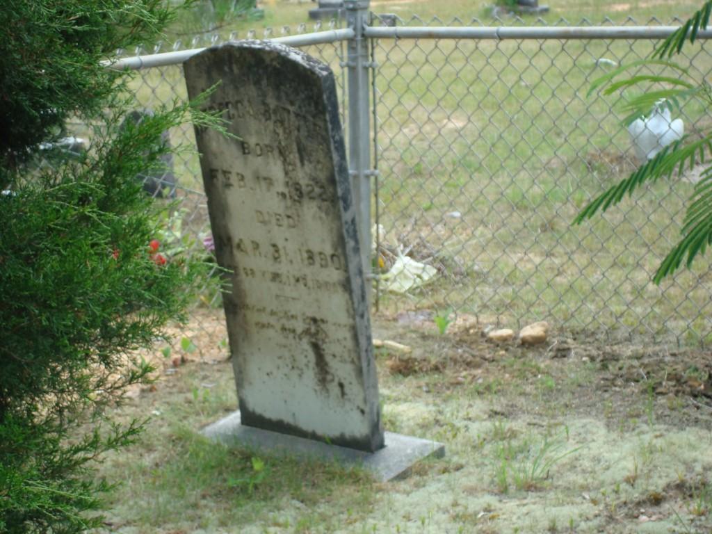 Rebecca Battle born Feb. 17, 1822 died Mar 31, 1890 age 68 yrs 1 mo. 10 days