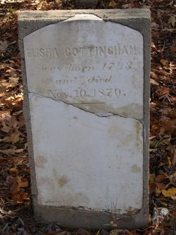 Elisha Cottingham tombstone
