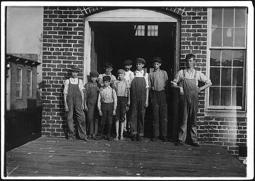 Group of doffers working cotton factory posed by the suprt. talladega, nov. 1910