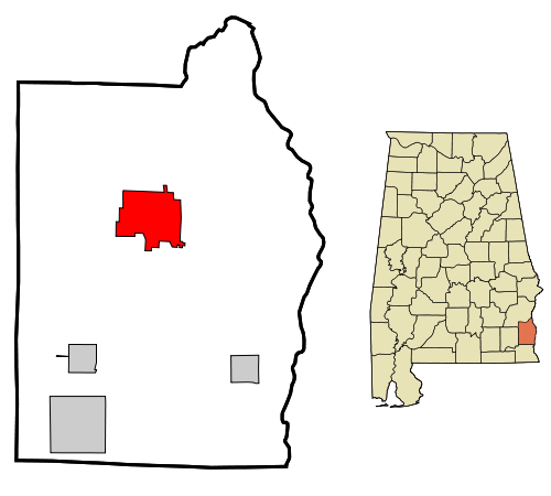 Henry County, Abbeville map