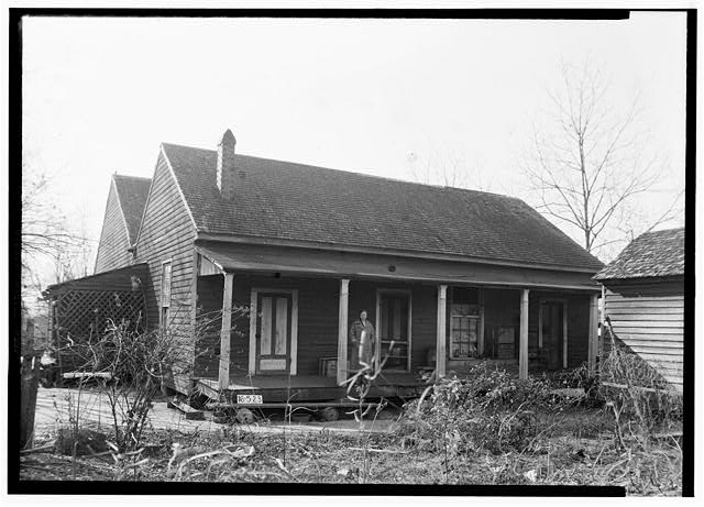 Historic American Buildings Survey W. N. Manning, Photographer, December 11, 1934 REAR AND SIDE VIEW, N.E. - Oates-Danzey House, West Washington & Trawick Streets, Abbeville, Henry County, AL